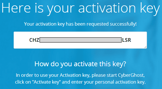 cyberghost vpn 6 activation key
