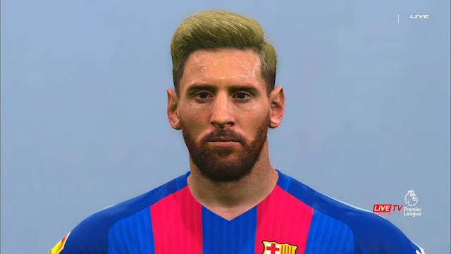 PES 2016 Lionel Messi New Face with Blonde Hair