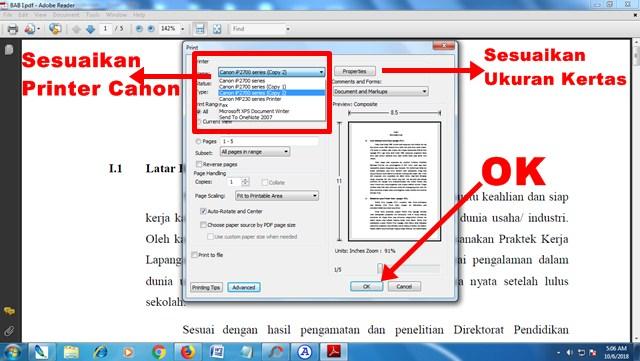 Cara Print File PDF dengan Printer Canon