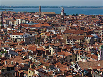 View of Venice from bell tower