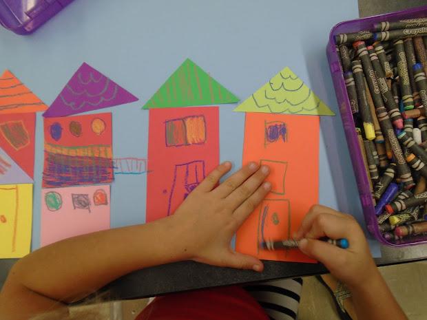 Zilker Elementary Art Class 1st Grade Paul Klee Geometric