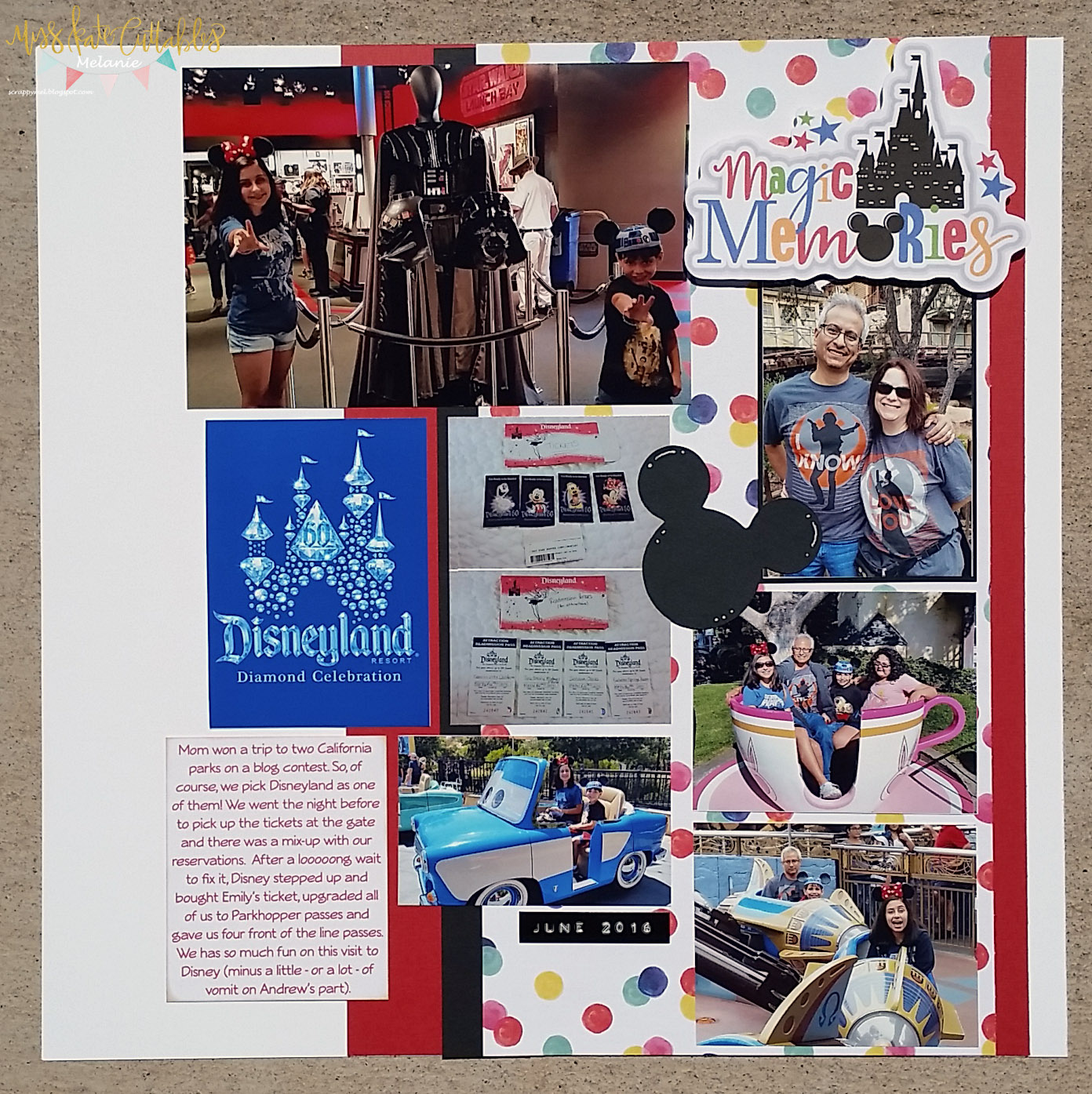 How to make scrapbook using illustration board - I Used To Miss Kate Designs Files For This Page Magic Memories Title And Mouse Memories Boy For The Mickey Head I Did A Print And Cut For The Title And