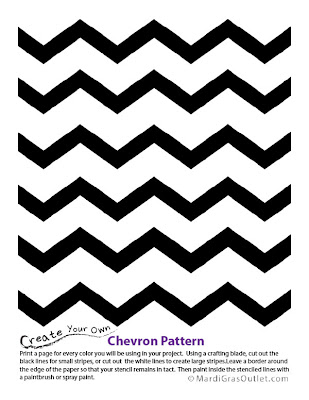 Party Ideas by Mardi Gras Outlet: Chevron Pattern Stencil
