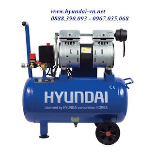 máy nén khí mini, máy bơm hơi mini, máy bơm hơi không dầu, máy bơm hơi hyundai AH1-25