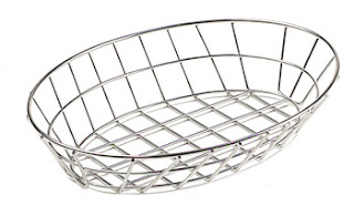 wire basket, oval basket, bread basket, burger basket