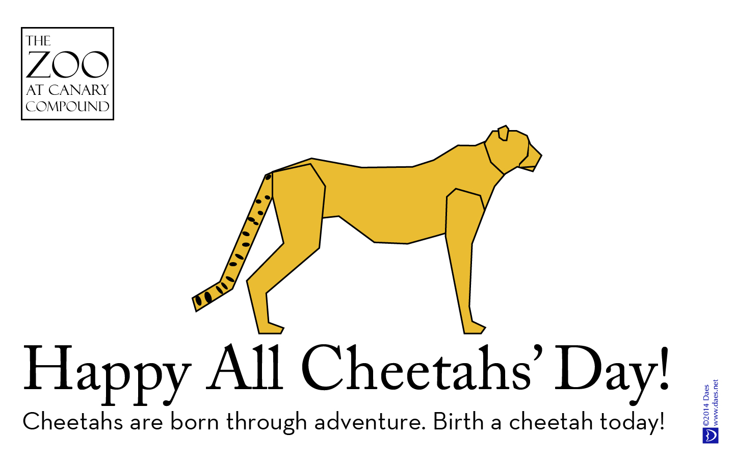 Cheetahs are born through adventure. Birth a cheetah today!