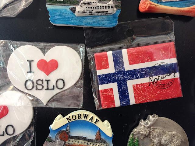 Oslo I love Oslo jääkaappimagneetti matkatuliainen