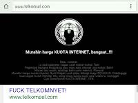 Situs Resmi Telkomsel Dibajak oleh Hacker