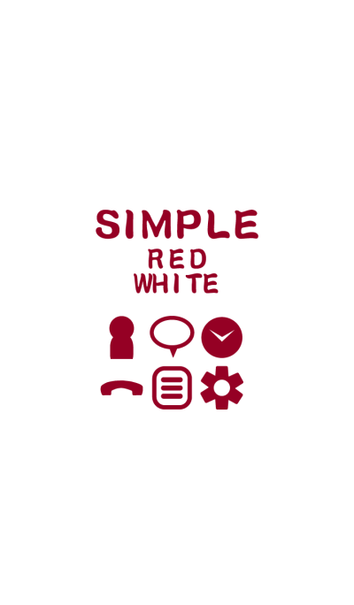 SIMPLE red×white