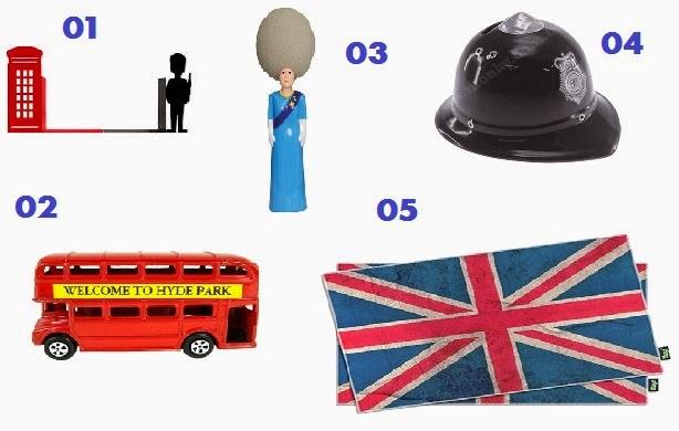 itens de decoração da Inglaterra/Reino Unido/Londres