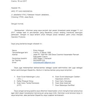 Contoh surat lamaran kerja dan cara mengirim surat lamaran kerja dengan menggunakan email