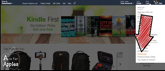 Amazon school supply list - Step 1