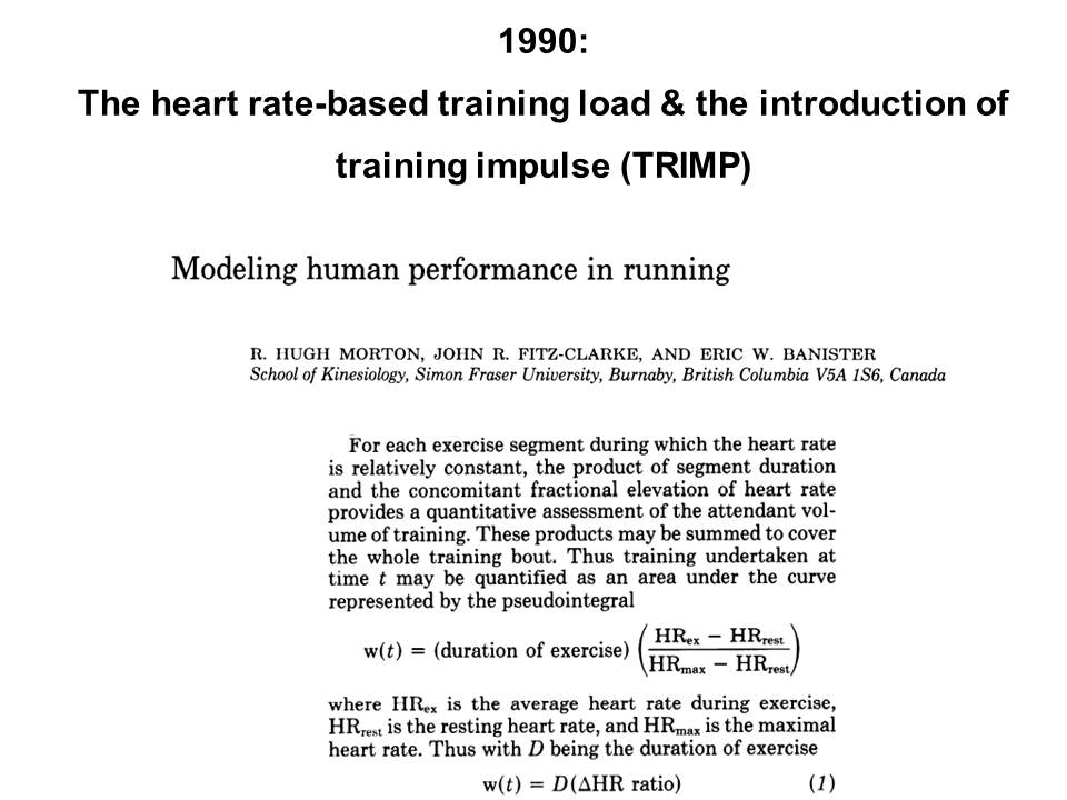 Science & Medicine in Sports: The evolution of training load