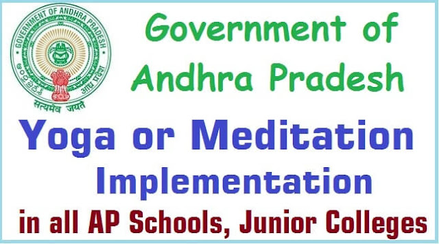 Yoga or Meditation Implementation AP Schools,Junior Colleges