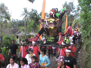 Sambut Nyepi, Umat Hindu di Jombang Gelar Upacara Tawur Agung Arak Ogoh-ogoh