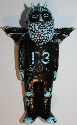 Light Blue with Black Rub Lucky Vinyl Figure by Mike Egan