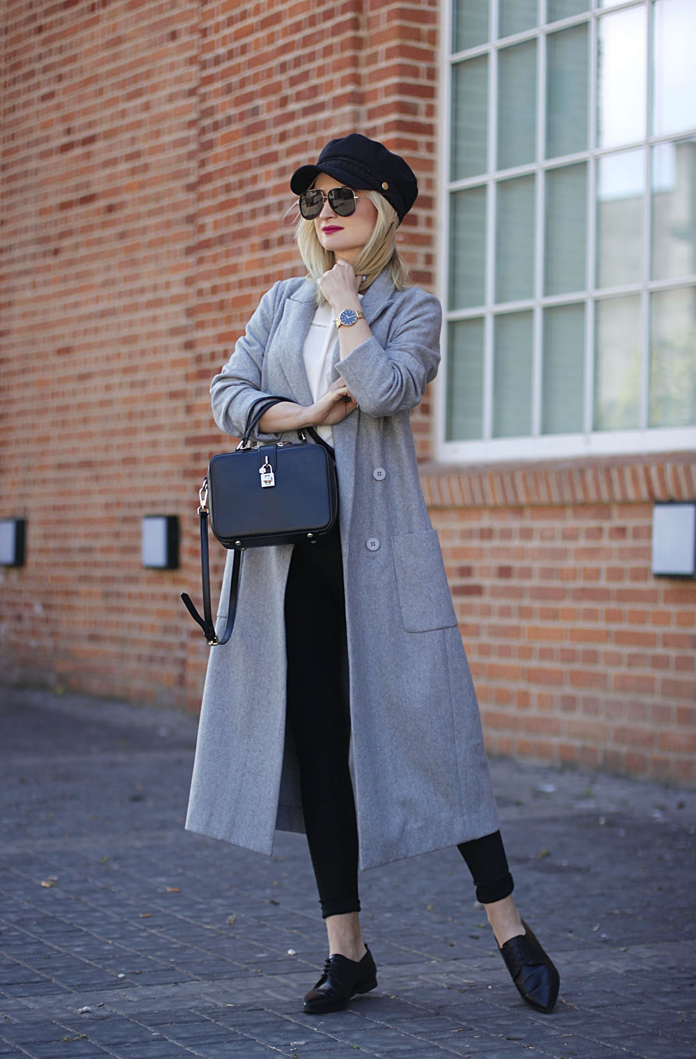 Long gray coat