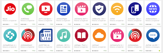Latest Jio Mobile Apps - Keyword, Search String, Review & Download