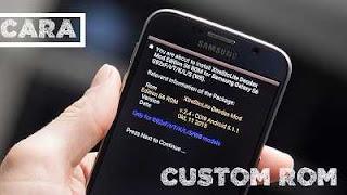 cara install custom rom android