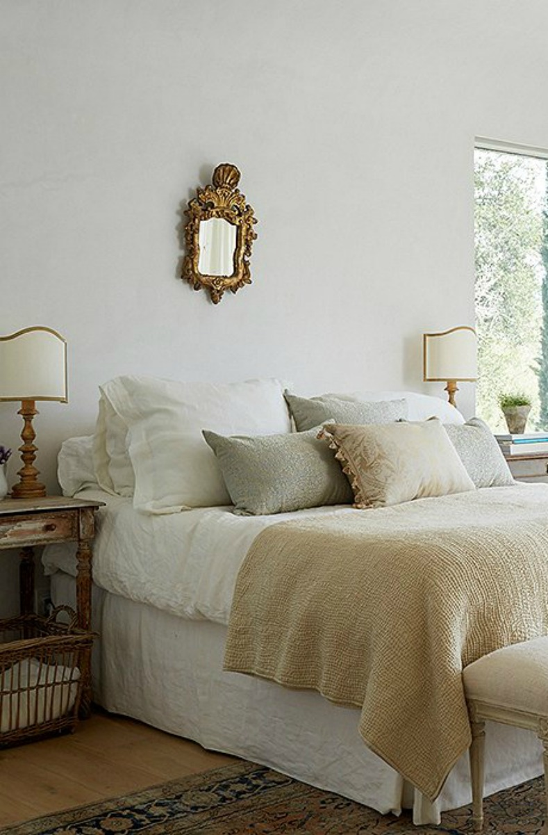 Patina Farm master bedroom with French farmhouse style - found on Hello Lovely Studio