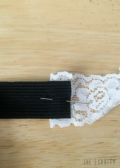 How to make a custom headband from lace and elastic