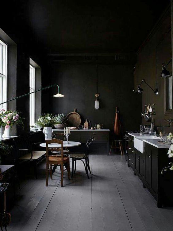 decoration cuisine couleur murs noirs blog