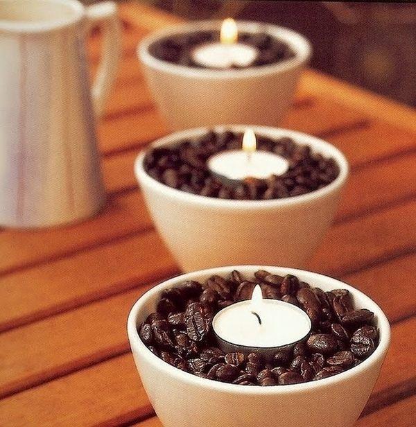 PROYECTO DIY para vela con cafe