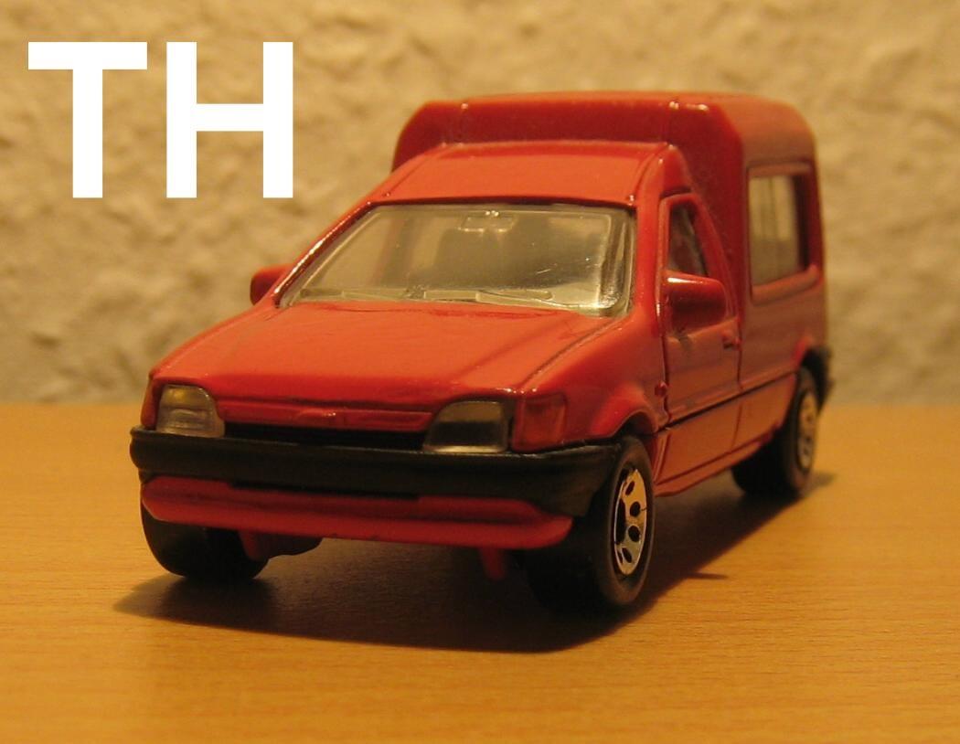 diecast modellautos ein kastenwagen als seltenes promo modell von matchbox ford fiesta. Black Bedroom Furniture Sets. Home Design Ideas