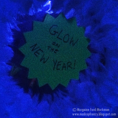 Glow in the New Year 2016 feather neon wreath
