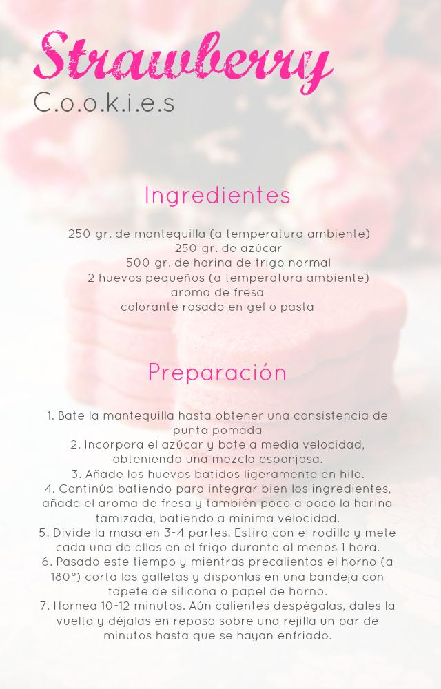 Strawberry Cookies: Galletas de fresa (para decorar), delicadas y...riquísimas