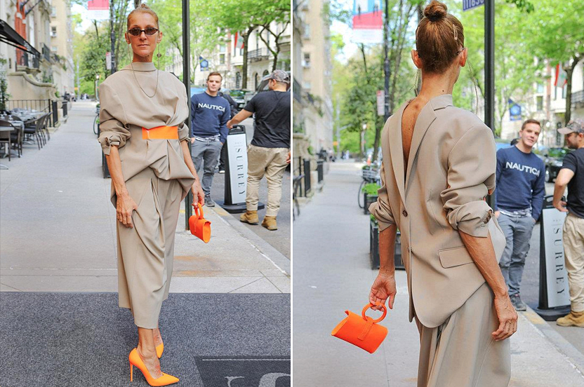 ¿Llevarías el blazer al revés como Celine Dion?