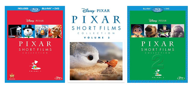 Pixar Short Films Collection DVDs volume 1-3