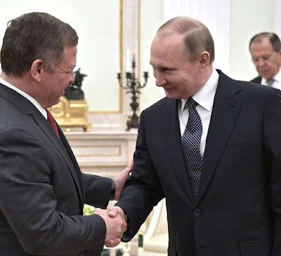 Vladimir Putin, King Abdulax II of Jordan.