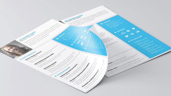 Material Style Resume/CV & Cover Letter