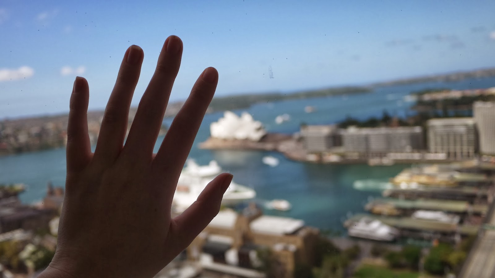 View from Shangri La Sydney hotel
