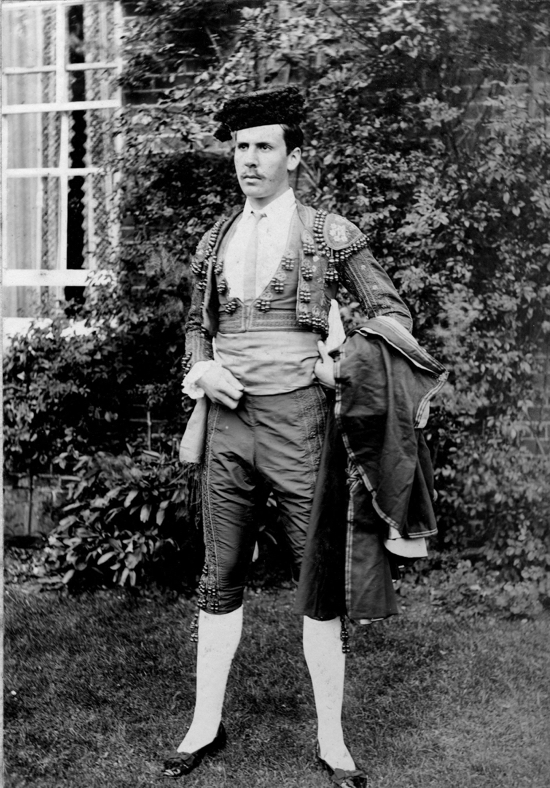 Photograph of Mr Cotton-Curtis, owner of Potterells dressed for a production in the 1900s - Image from P. Grant / G. Knott