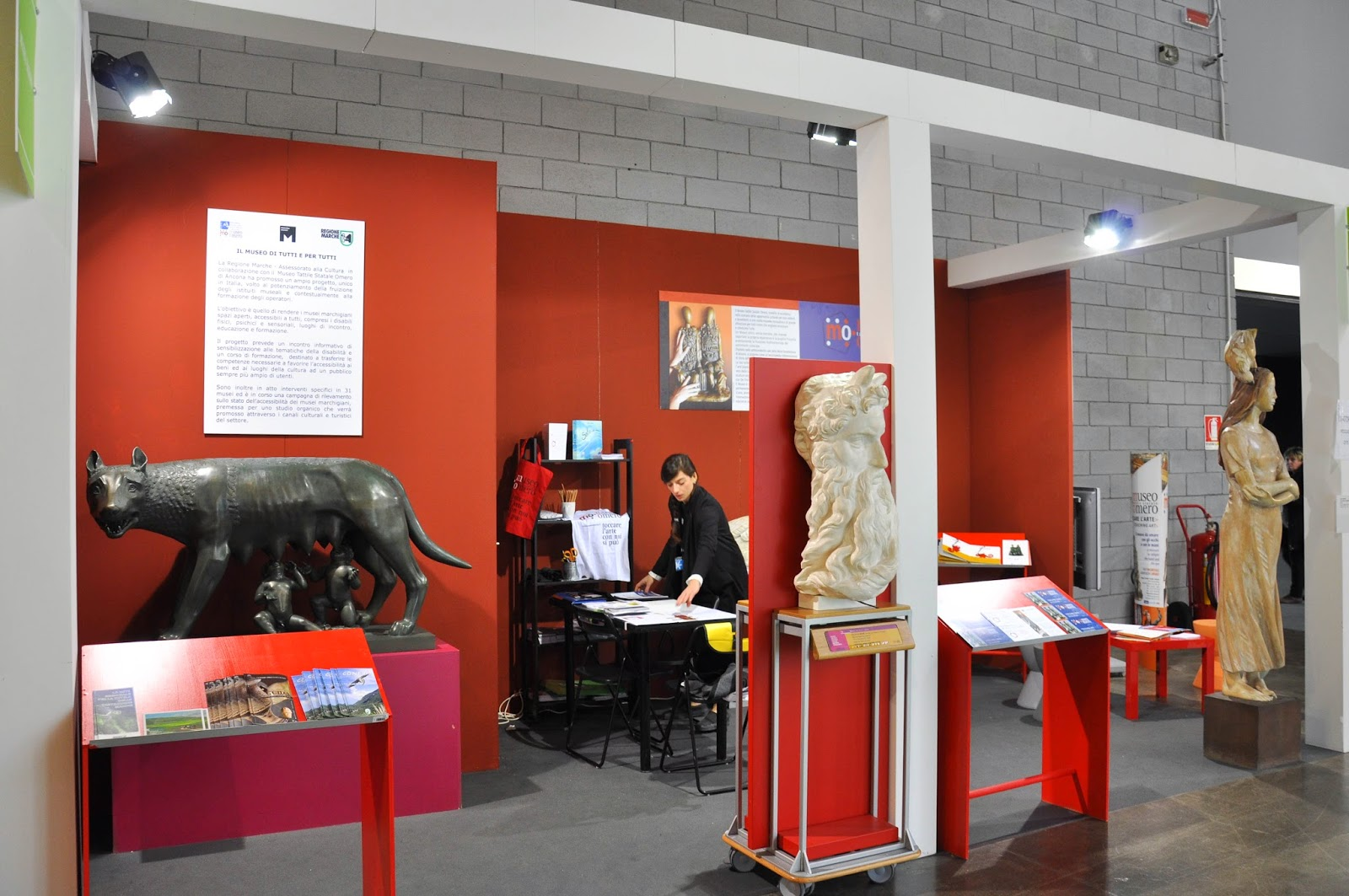 The stand of the Tactile State Museum Omero in Ancona at Move! travel exhibition in Vicenza