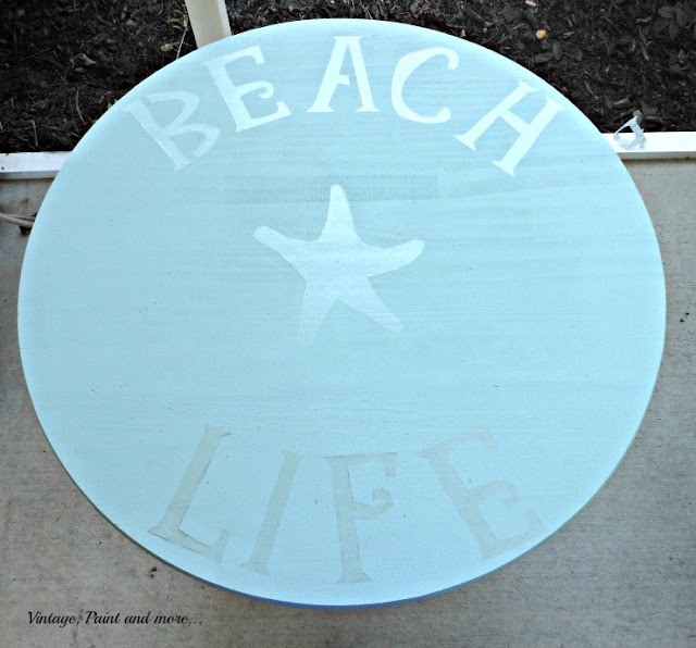 Vintage, Paint and more... DIY stencil for DIY wood table