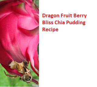 Dragon Fruit Berry Bliss Chia Pudding Recipe