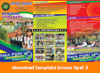 Download Template Brosur Lipat 3 Cdr