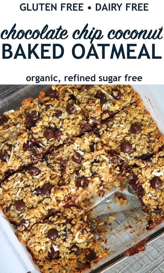 Chocolate Chip Coconut Baked Oatmeal