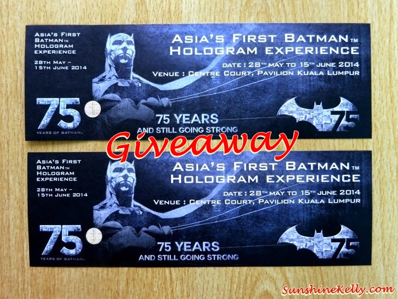 Asia First Batman Hologram Experience, Giveaway, Giveaway Winner, Batman, Batman 75 Years Anniverasry, DC Comics
