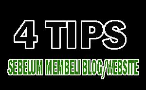Tips sebelum membeli blog