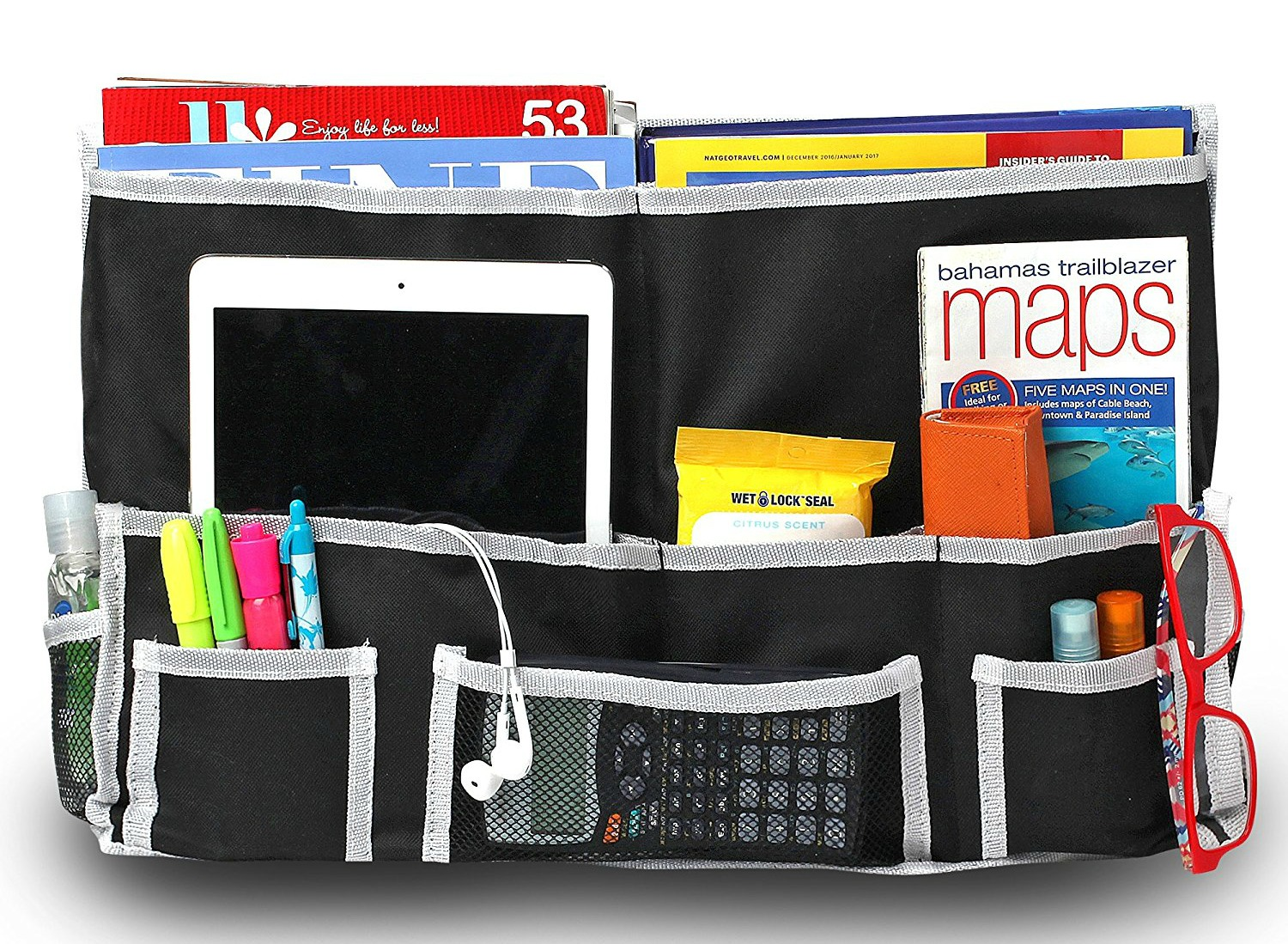 ... Dorm Room Must Haves... 10 Pocket Bedside Caddy (approx. $13.99) Since  Space Will Be Tight As It Is, A Night Stand Is Not Really An Option. Part 56
