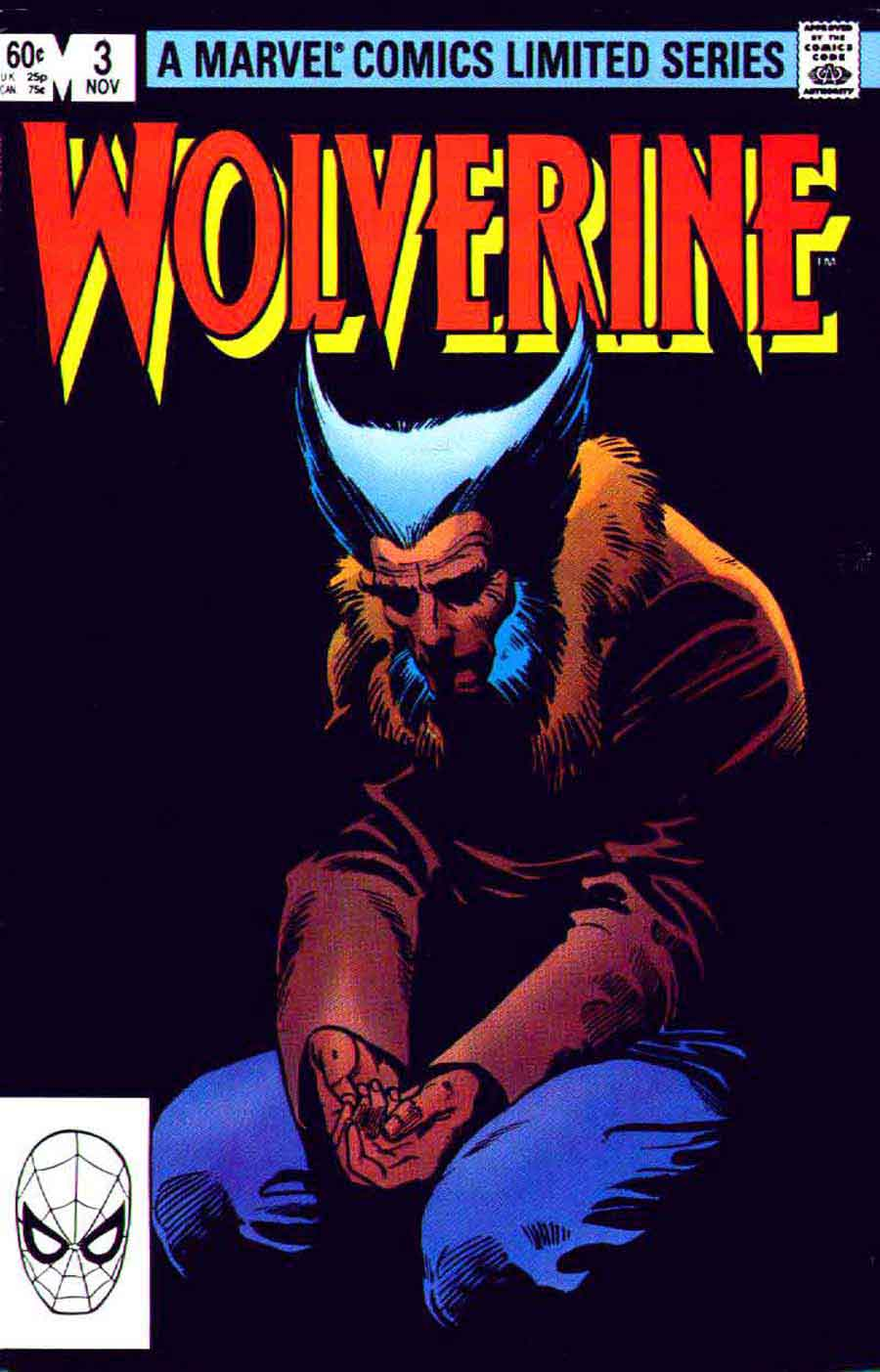 Wolverine v1 #3 - Frank Miller art 1980s marvel comic book cover