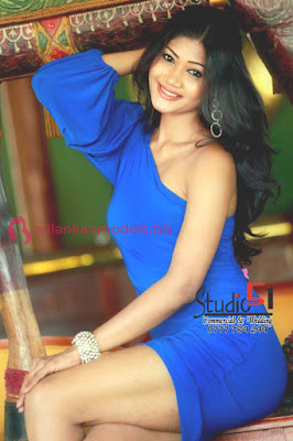 Sumudu Prasadini Sexy Blue Dress Photoshoot