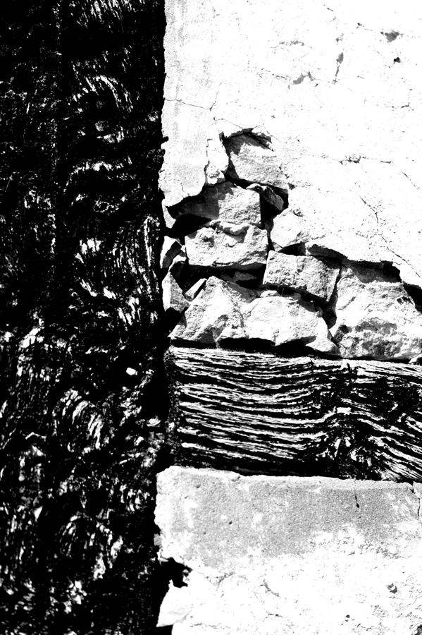 Blog + Fotografie by it's me! | fim.works | SchwarzWeissBlick No 16 | verlassenes Gehöft | Lost Place | marodes Fachwerk | geschwärzter Balken