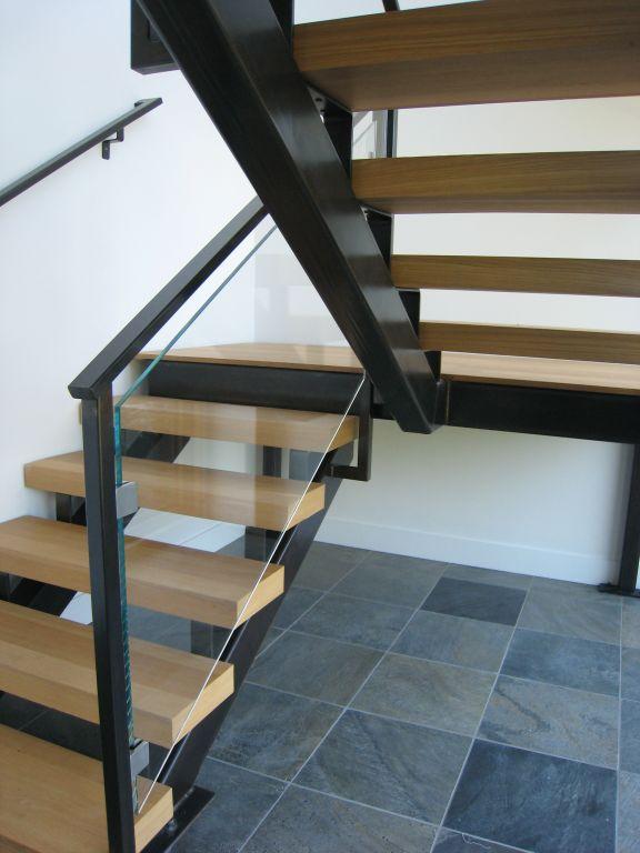 Glass Stair Railings Interior: Interior Glass Stair Railing, Glass Clamps • OT Glass