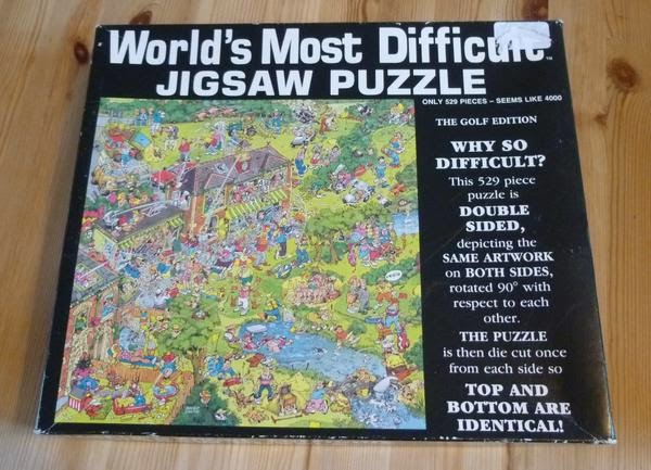 The Golf edition of the 'World's Most Difficult Jigsaw Puzzle'