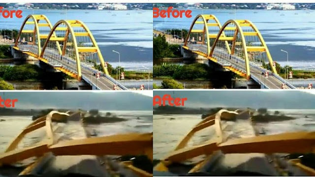 Jembatan Ponulele di Palu Hancur Karena Gempa, Pemukiman di Bawahnya Ludes Terbawa Tsunami